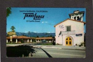 CA TraveLodge Travel Lodge Hotel Motel Santa Barbara California Postcard