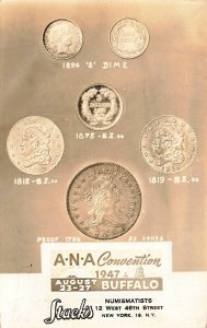 Buffalo NY Stack's of New York NY A.N.A. Numismatists Convention Coins Postcard