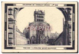 Image Treves L & # 39Eglise Saint Mathias Meunier Chocolate