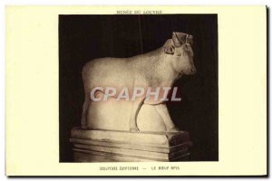 Old Postcard Musee Du Louvre Sculpture Egyptian Beef Apis