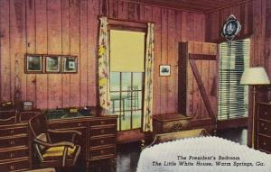 The Presidents Bedroom The Little White House Warm Springs Georgia