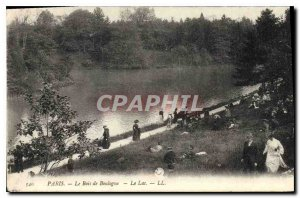 Old Postcard Paris Bois de Boulogne Lake