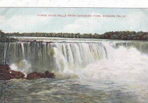 New York Niagara Falls Horse Shoe Falls From Canadian Park
