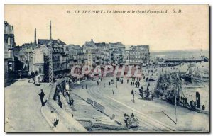 Treport - The Musoir and the Quai Francois I - Old Postcard
