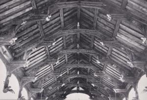 St Peter & Saint Paul Knapton Church Norfolk Beams Postcard