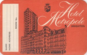 England Brighton Hotel Metropole Vintage Luggage Label lbl0308