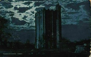 Cambuskenneth Abbey Tower Moonlight Postcard