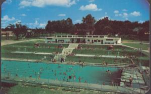 COLUMBIA SC - MUNICIPAL SWIMMING POOL ...aerial view shows pool complex 1950s