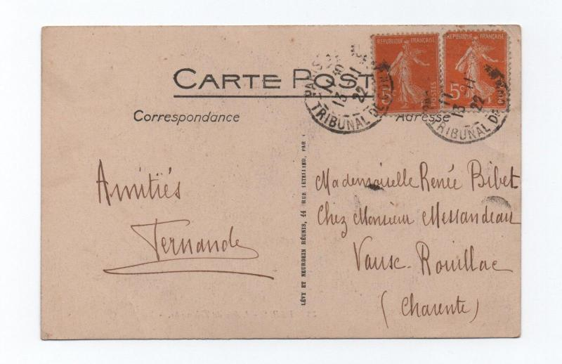 postcard stamps paris 1913 year france monuments arch of triumph