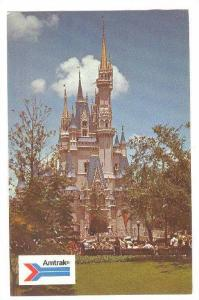 The Pastel towers and turrets of Cinderella's Castle,Disneyworld,40-60s