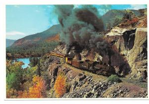 Durango Silverton Narrow Gauge Train RR Petley Postcard