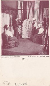 BOSTON, Massachusetts, Pre 1907; Leaders in Upholsteries, RH White Co.