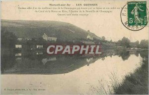 Old Postcard Mareuil on Ay Goisses