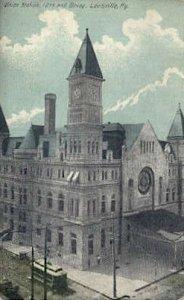 Union Station, Louisville, Kentucky, KY, USA, Railroad Train Depot Postcard P...