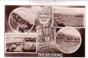 Real Photo, You're Always Welcome in Folkestone, England, Bromide,