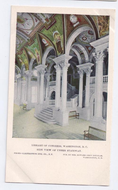 Library of Congress Upper Stairway Washington D.C. UDB c1904