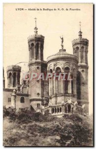 Old Postcard Lyon apse of the basilica of Our Lady of Fourviere