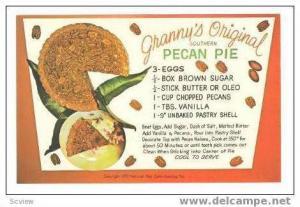 Recipe   Granny's original Southern Pecan Pie, 40-60s