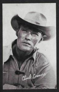 ARCADE CARD Cowboy Entertainer Chuck Connors