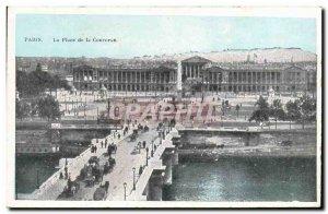 Old Postcard Paris's Place de la Concorde