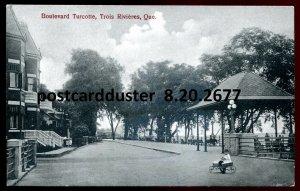 2677 - TROIS RIVIERES Quebec Postcard 1920s Boulevard Turcotte