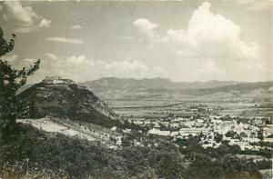 Romania Deva citadel G.B. Shaw stamp postcard