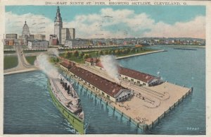 CLEVELAND, Ohio , 1900-10s; East Ninth St. Pier, showing Skyline