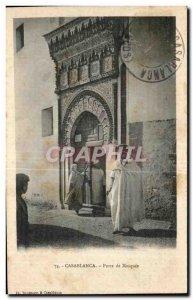 Old Postcard Casablanca Morocco Gate Mosque