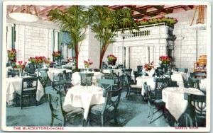 Chicago, Illinois Postcard THE BLACKSTONE HOTEL Marble Room Restaurant 1913