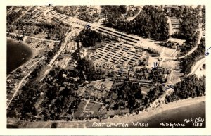 Washington Fort Lawton Aerial View 1952 Real Photo