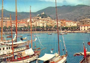 Italy San Remo Riviera dei Fiori Panorama del Porto, Harbour Boats Bateaux