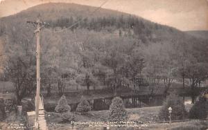 Pocantico Inn Park Margaretville, New York Postcard