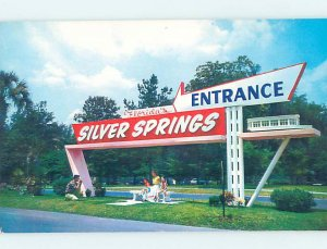 Pre-1980 VINTAGE SIGN AT SILVER SPRINGS Ocala Florida FL AF9843-12