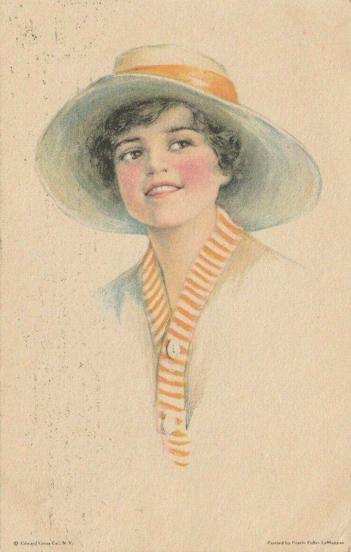 Woman portrait , 1900-10s ; #21A ; Artist Pearle FIDLER