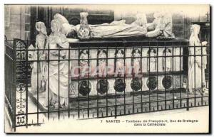 Postcard Old Death Nantes Tomb of Francis II Duke of Brittany in the cathedral
