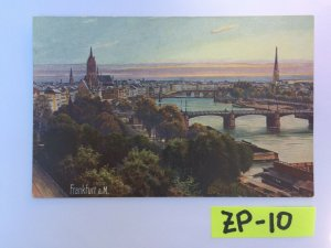Frankfurt A M Beautiful view of the water and buildings Vintage Postcard ZP-10