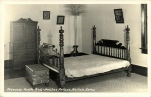 hawaii, KAILUA, Hulihee Palace, Princess Ruth Bed (1940s)
