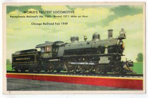 Worlds Fastest Locomotive, PA RR No. 7002