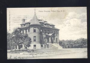 VALLEY CITY NORTH DAKOTA PLATOU HOSPITAL ANTIQUE VINTAGE POSTCARD ND 1908