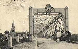CPA LANGON - Le Pont et l'Église (140077)