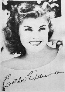 1940's Vintage Esther Williams Signed Studio Portrait Photo