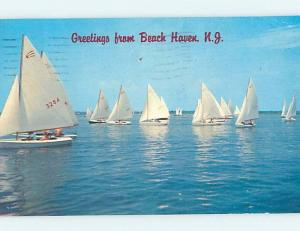 Pinhole Damage Pre-1980 GREETINGS FROM CARD Long Island - Beach Haven NJ ho5882