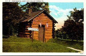 Pennsylvania Valley Forge Continental Army Hut Curteich