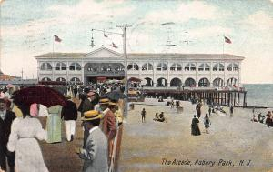 The Arcade, Asbury Park, New Jersey, Early Postcard, Used in 1908