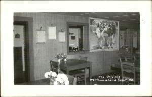 Westmoreland Depot NH Ox Yoke Restaurant Interior Real Photo Postcard