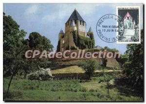 Modern Postcard Provins (S & M) La Tour Cesar first day maximum card