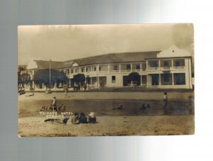 1930 South Africa Blakes Hotel Strand RPPC Postcard Cover to USA