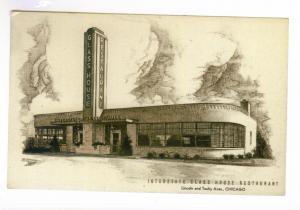Interstate Glass House Restaurant, Chicago unused Postcard