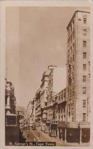 South Cape Town St George's Street 1946 Real Photo RPPC