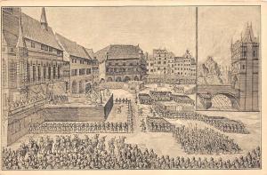 BT2427 le execution des seigneurs bohemes  prague praha prag  czech republic